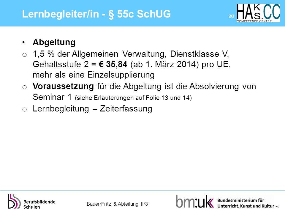 Lernbegleiter/in - § 55c SchUG 2/2