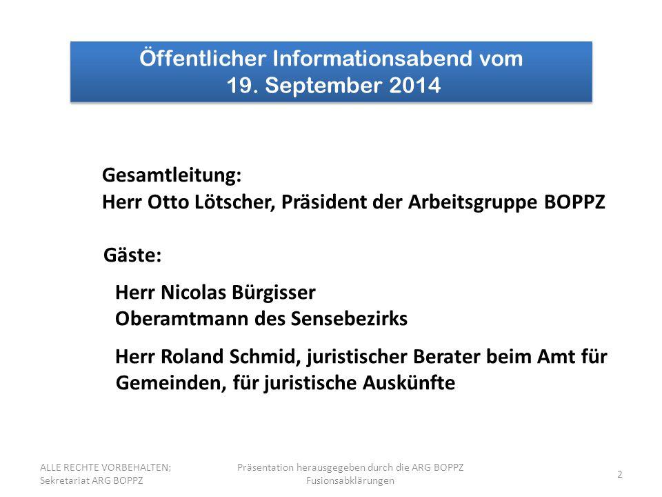 Öffentlicher Informationsabend vom 19. September 2014