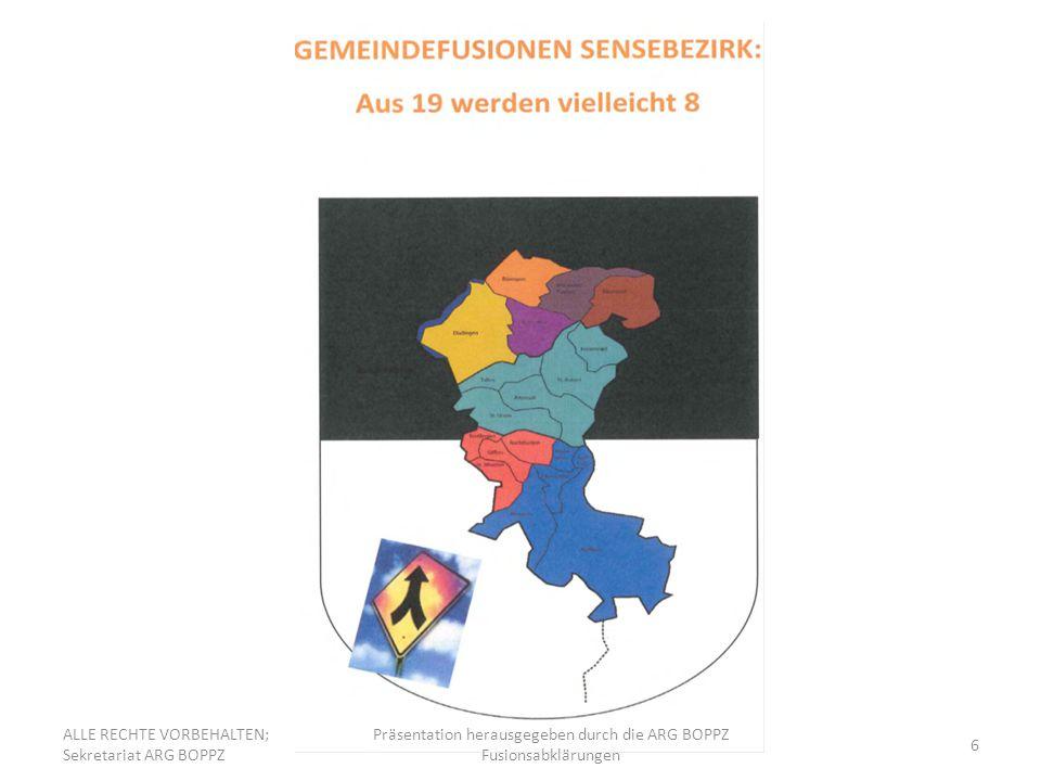 Präsentation herausgegeben durch die ARG BOPPZ Fusionsabklärungen