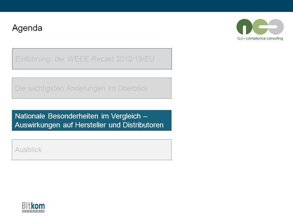 Agenda Einführung: der WEEE-Recast 2012/19/EU