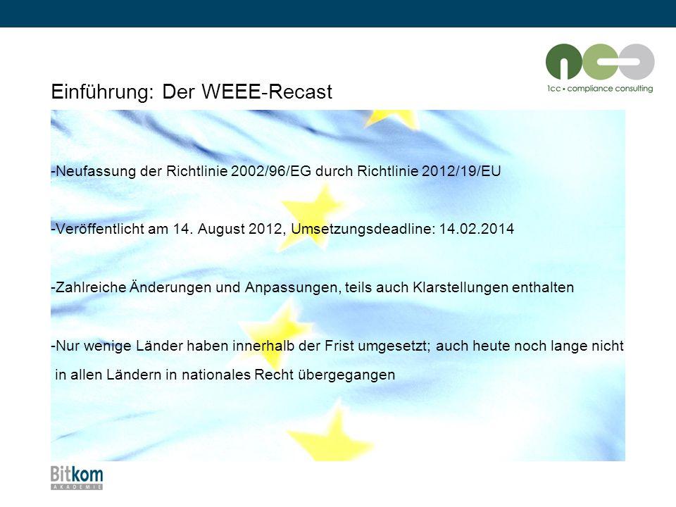 Einführung: Der WEEE-Recast