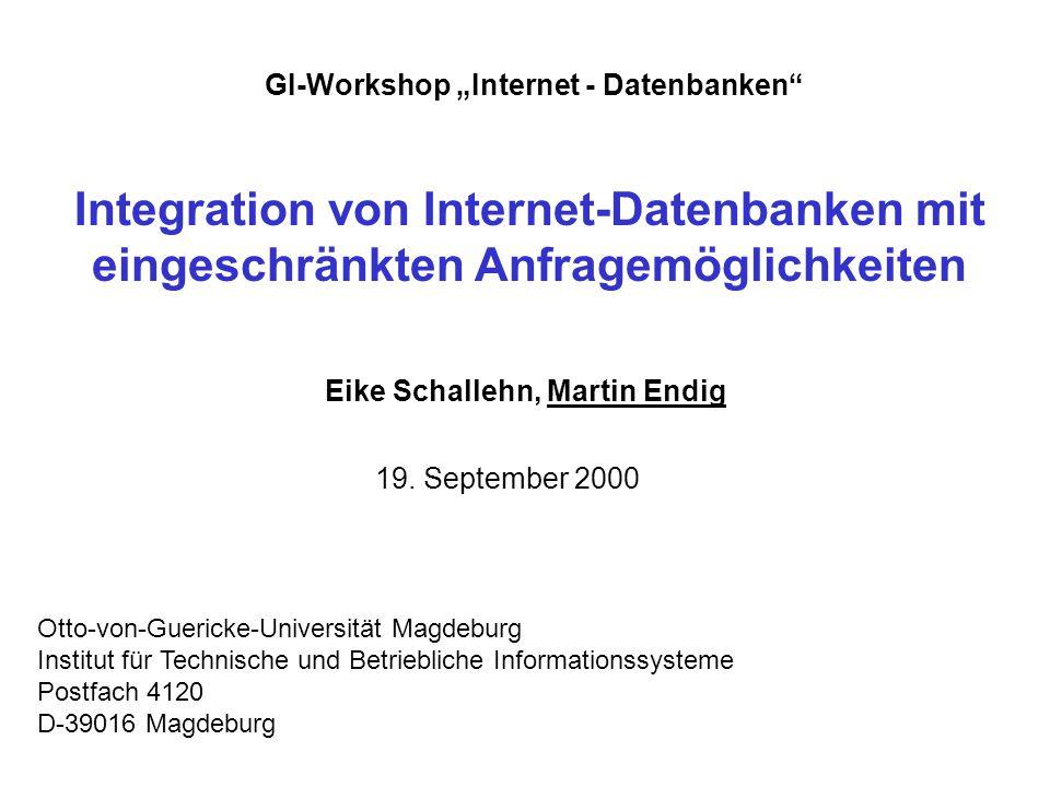 Eike Schallehn, Martin Endig