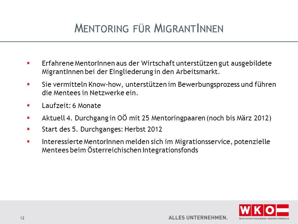 Mentoring für MigrantInnen
