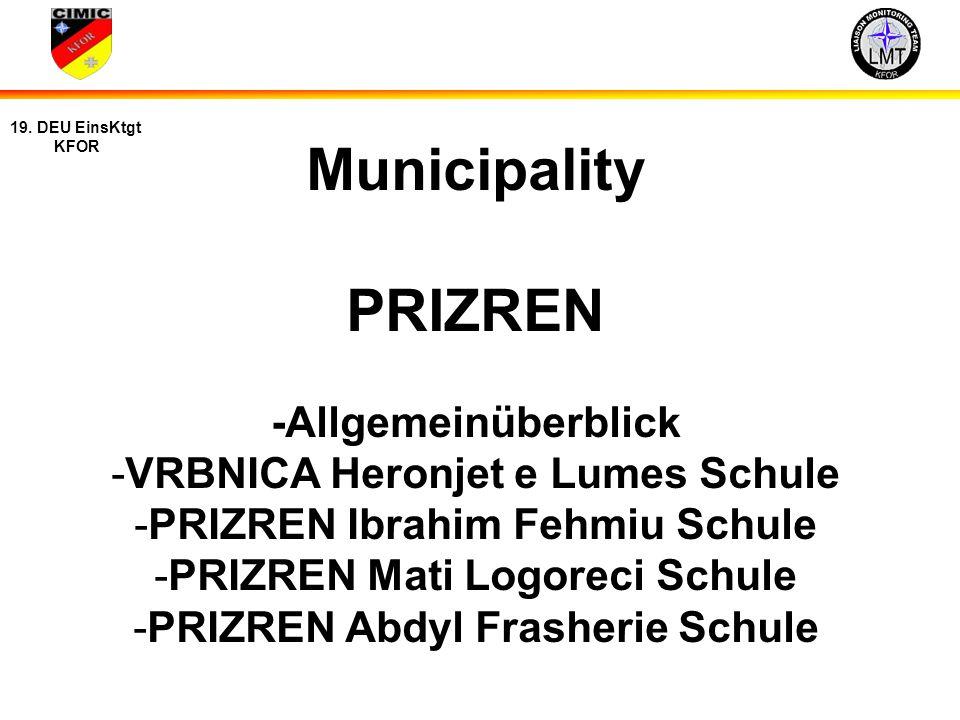 Municipality PRIZREN -Allgemeinüberblick