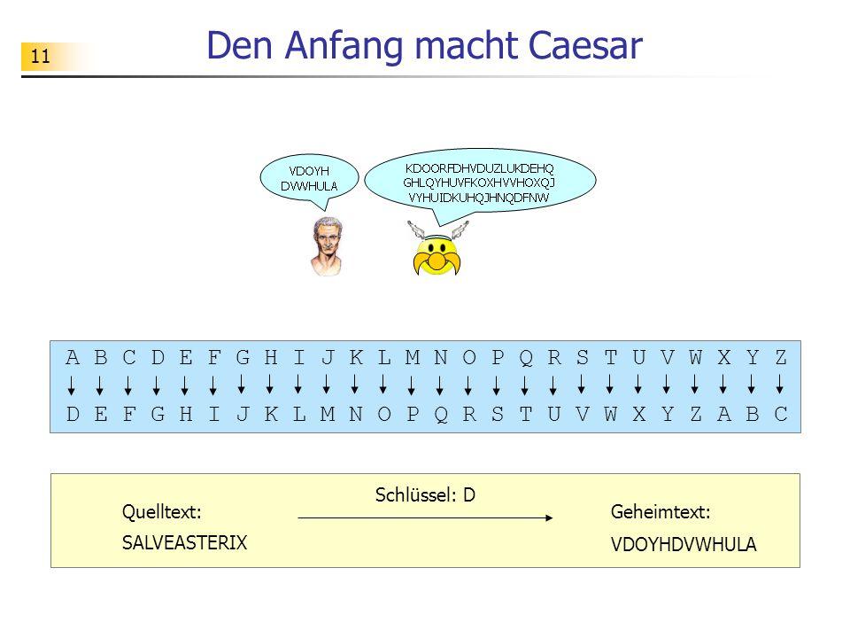Den Anfang macht Caesar