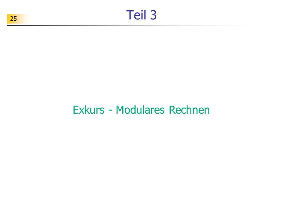 Exkurs - Modulares Rechnen