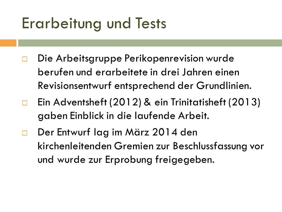 Erarbeitung und Tests