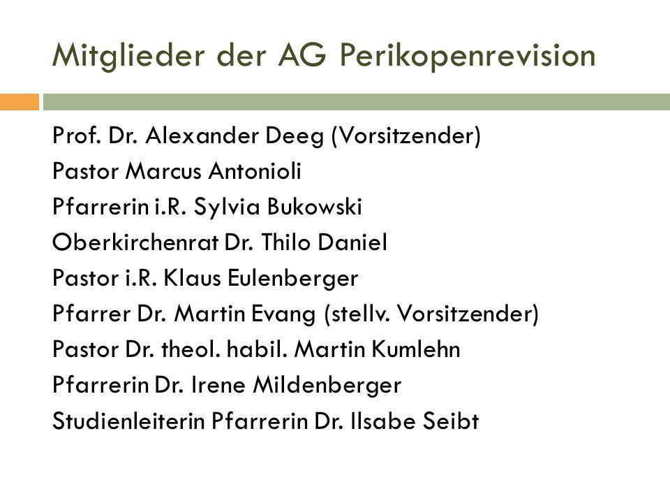 Mitglieder der AG Perikopenrevision
