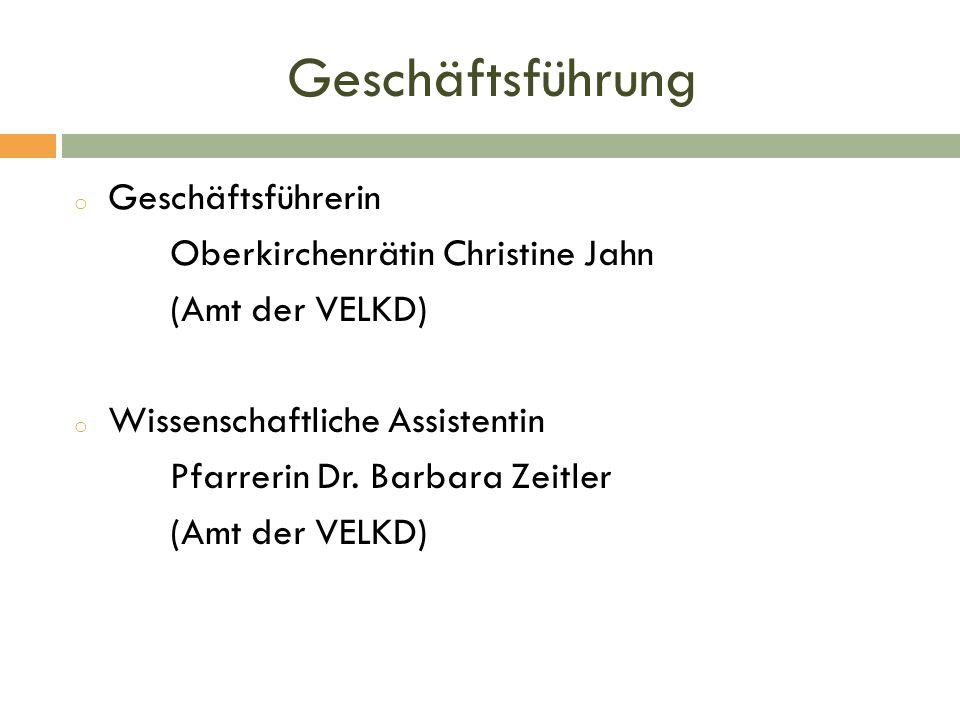 Geschäftsführung Geschäftsführerin Oberkirchenrätin Christine Jahn