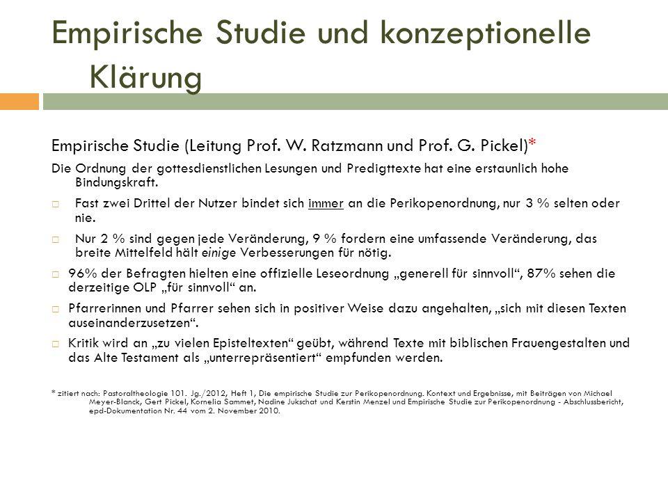 Empirische Studie und konzeptionelle Klärung