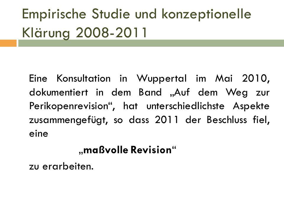 Empirische Studie und konzeptionelle Klärung 2008-2011