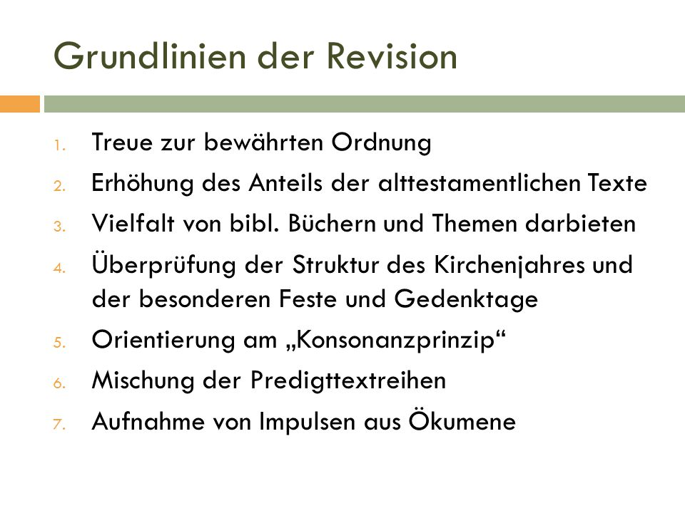 Grundlinien der Revision