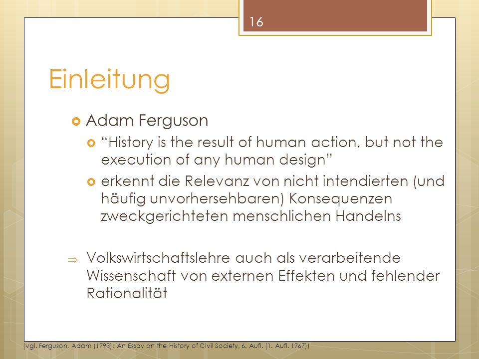Einleitung Adam Ferguson