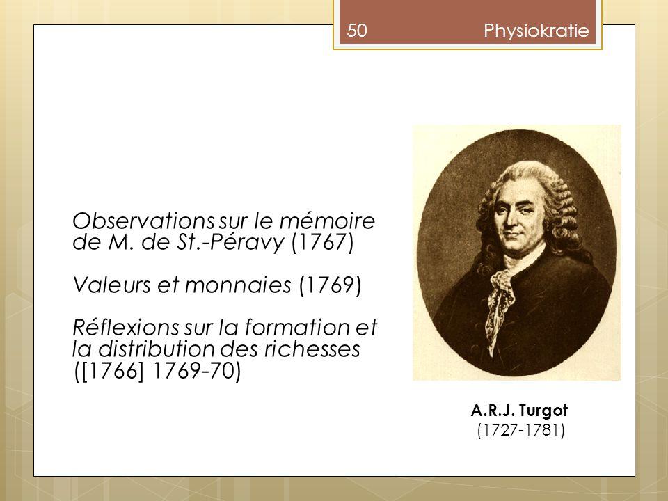 Observations sur le mémoire de M. de St.-Péravy (1767)