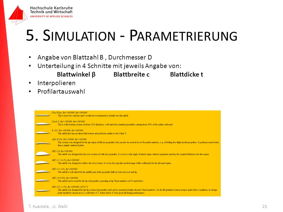 5. Simulation - Parametrierung