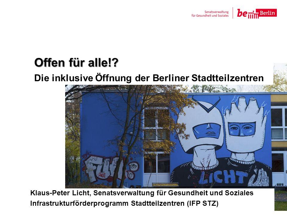 Offen für alle! Die inklusive Öffnung der Berliner Stadtteilzentren