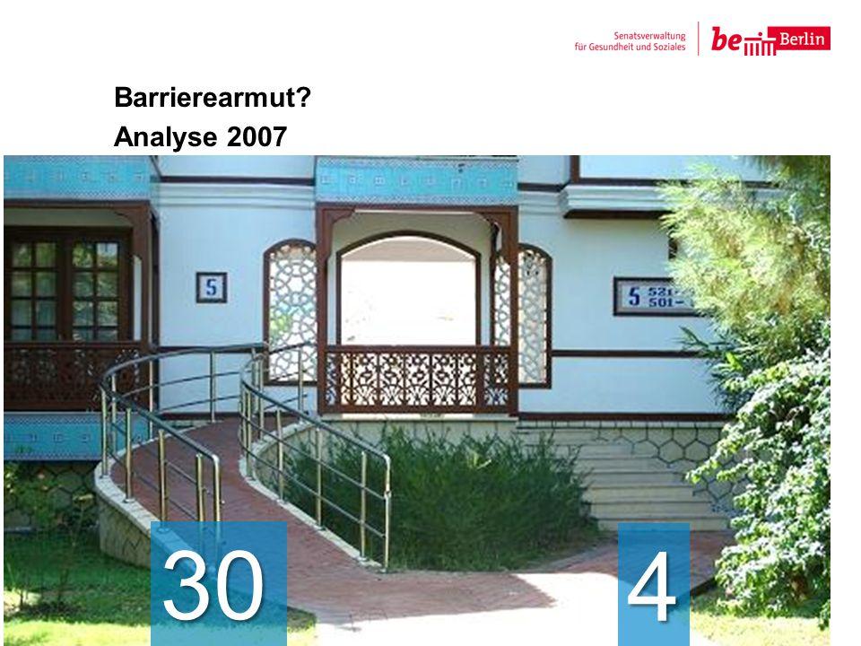 Barrierearmut Analyse 2007