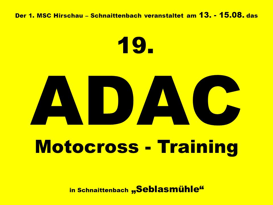 ADAC 19. Motocross - Training