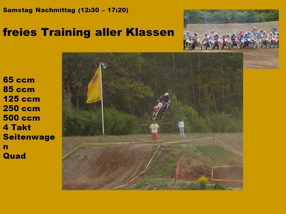 freies Training aller Klassen