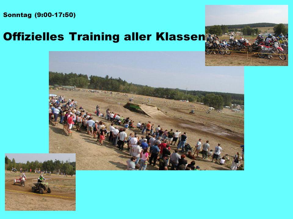 Offizielles Training aller Klassen