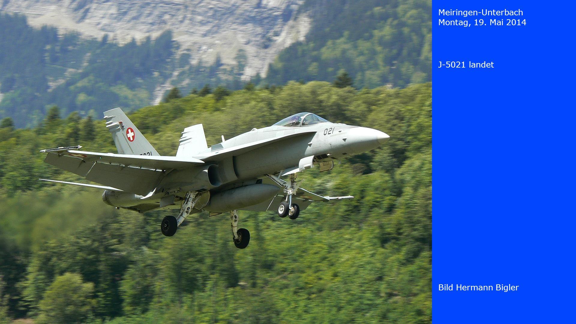 Meiringen-Unterbach Montag, 19. Mai 2014 J-5021 landet Bild Hermann Bigler