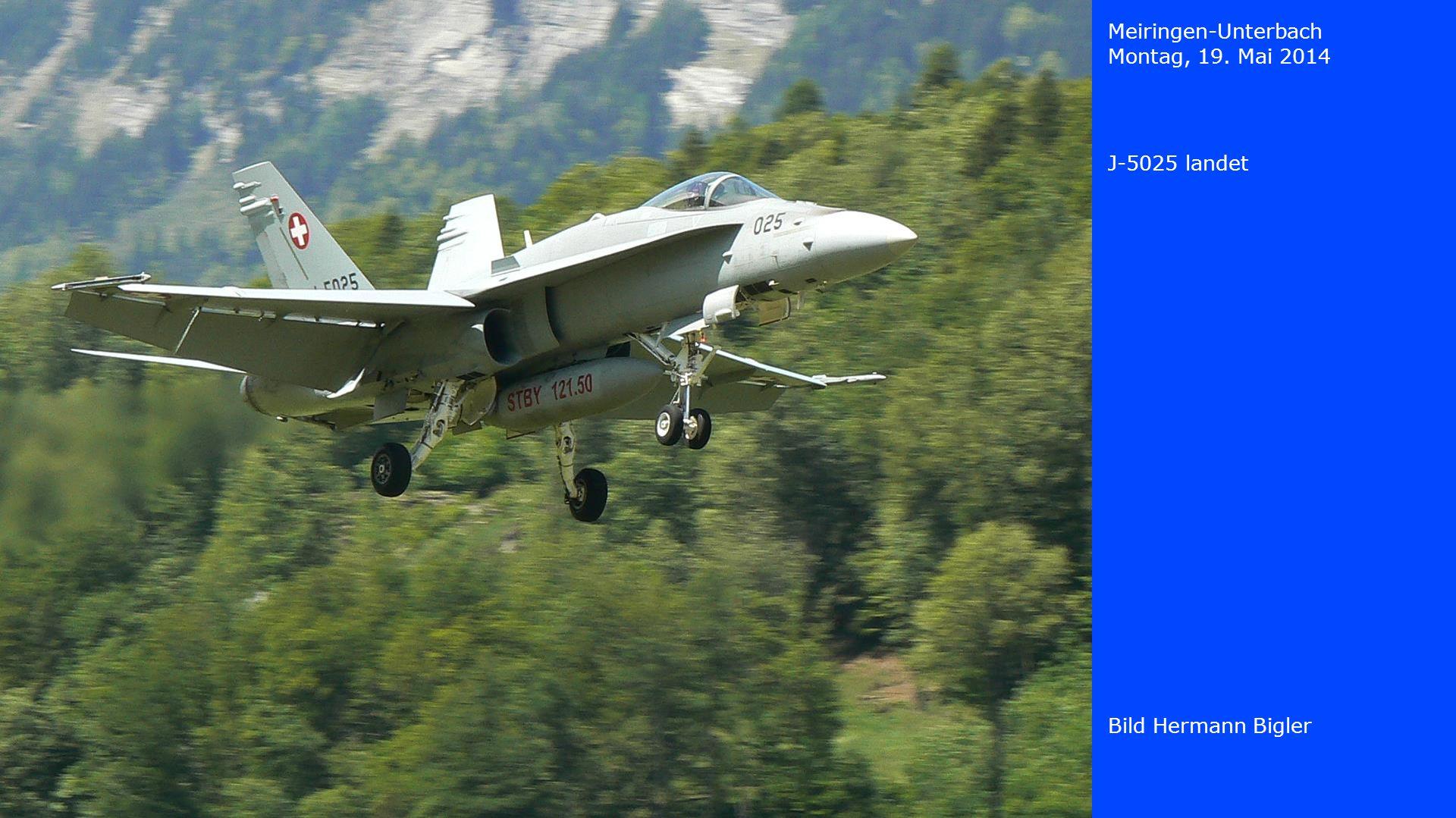 Meiringen-Unterbach Montag, 19. Mai 2014 J-5025 landet Bild Hermann Bigler