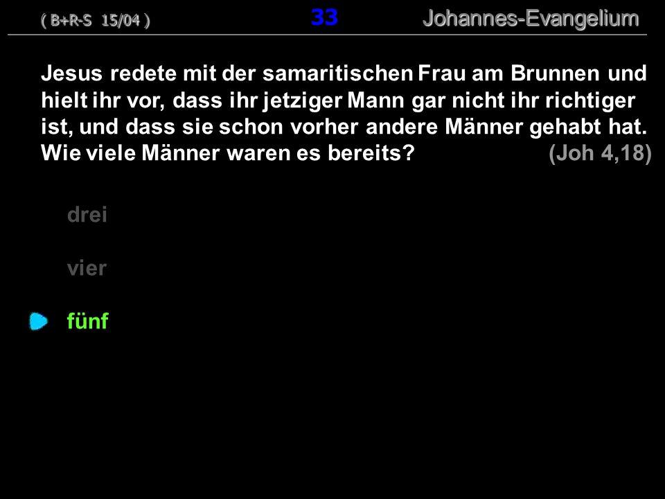 ( B+R-S 15/04 ) 33 Johannes-Evangelium
