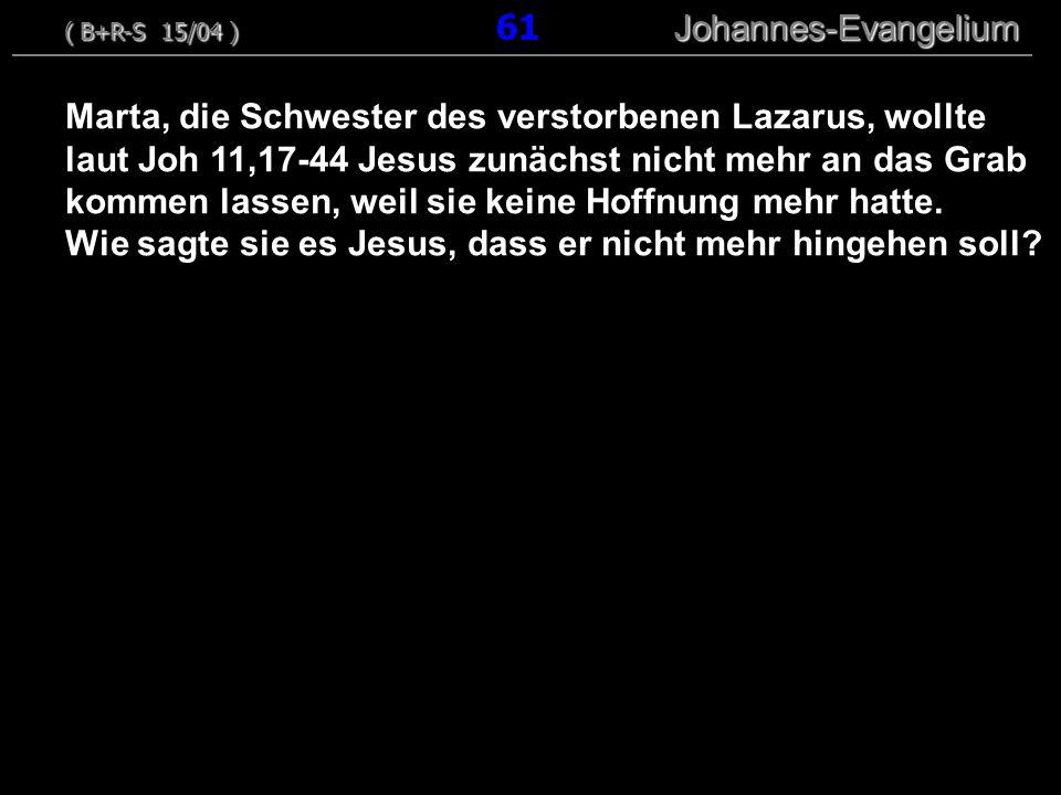 ( B+R-S 15/04 ) 61 Johannes-Evangelium