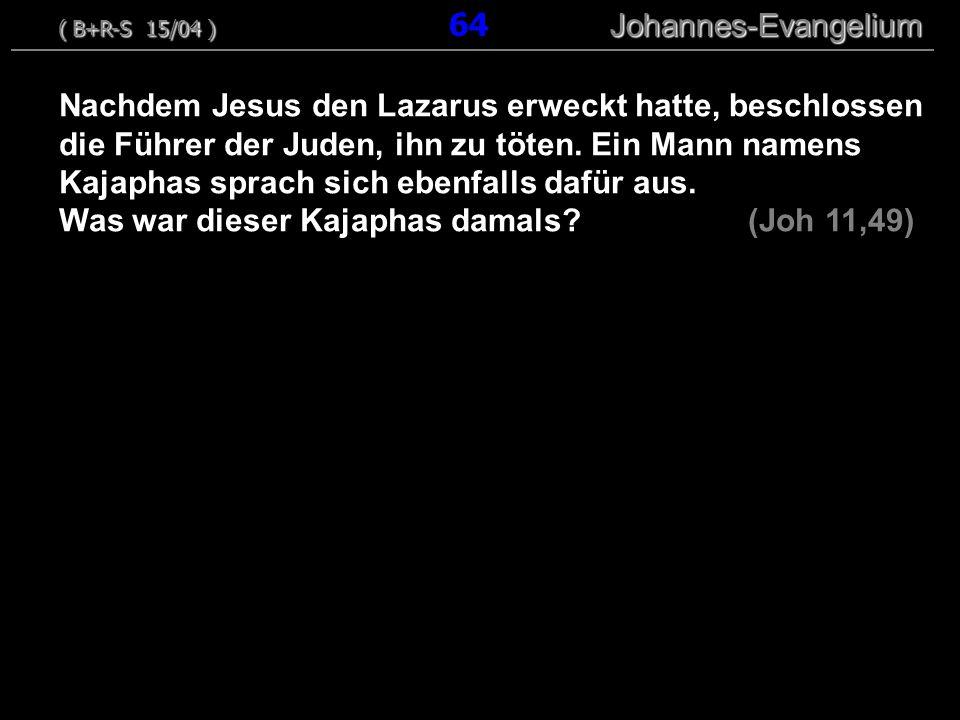 Was war dieser Kajaphas damals (Joh 11,49)