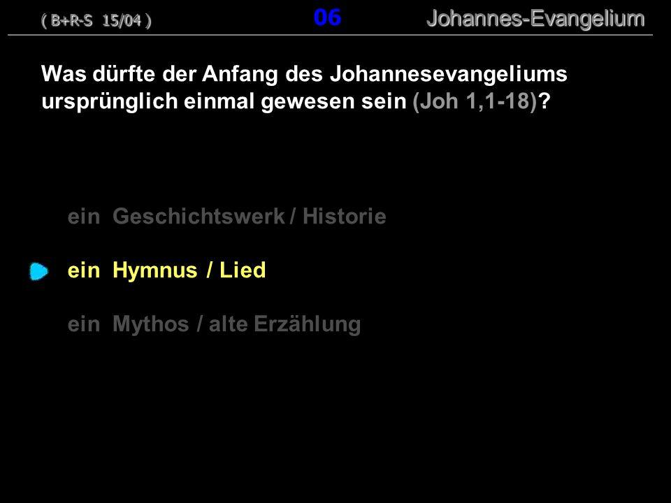 ein Geschichtswerk / Historie ein Hymnus / Lied