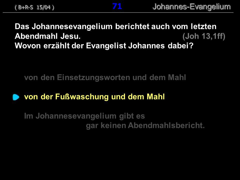 Wovon erzählt der Evangelist Johannes dabei