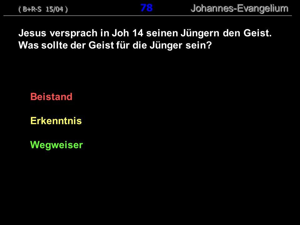 ( B+R-S 15/04 ) 78 Johannes-Evangelium