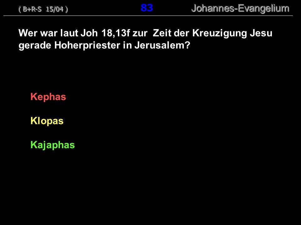 ( B+R-S 15/04 ) 83 Johannes-Evangelium