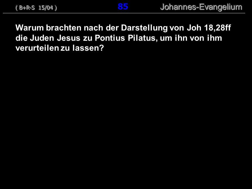 ( B+R-S 15/04 ) 85 Johannes-Evangelium