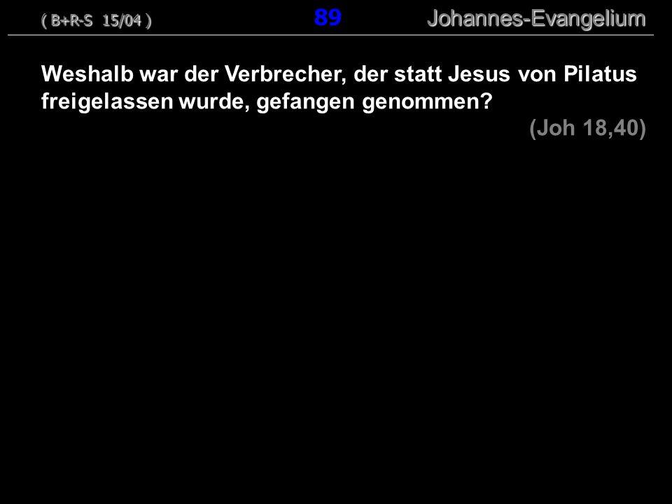 ( B+R-S 15/04 ) 89 Johannes-Evangelium