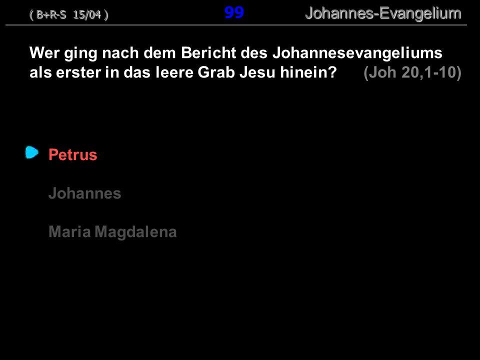 ( B+R-S 15/04 ) 99 Johannes-Evangelium