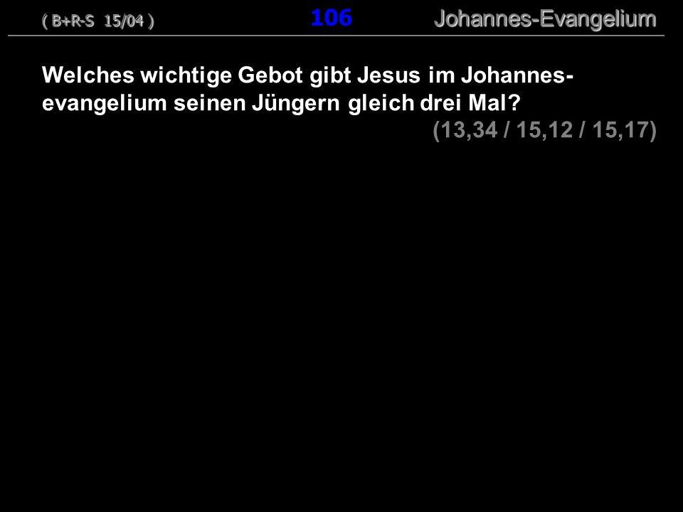 ( B+R-S 15/04 ) 106 Johannes-Evangelium
