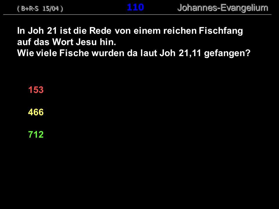 Wie viele Fische wurden da laut Joh 21,11 gefangen