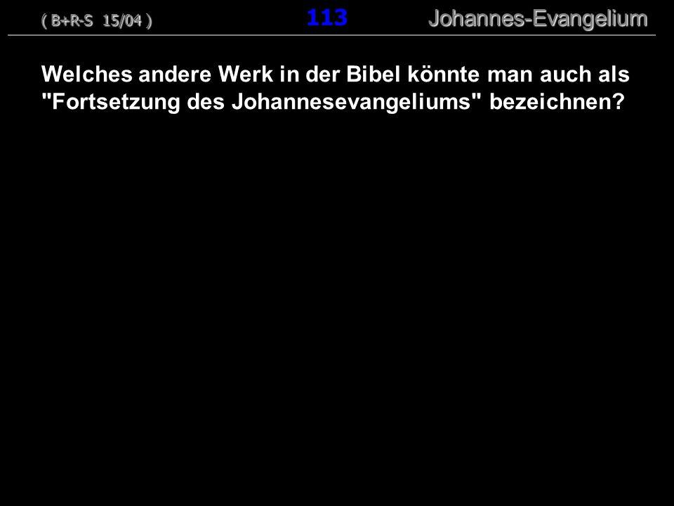 ( B+R-S 15/04 ) 113 Johannes-Evangelium