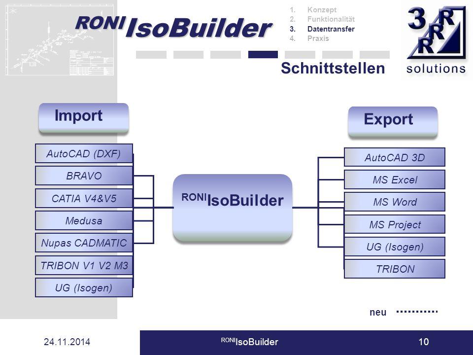 Import Export RONIIsoBuilder
