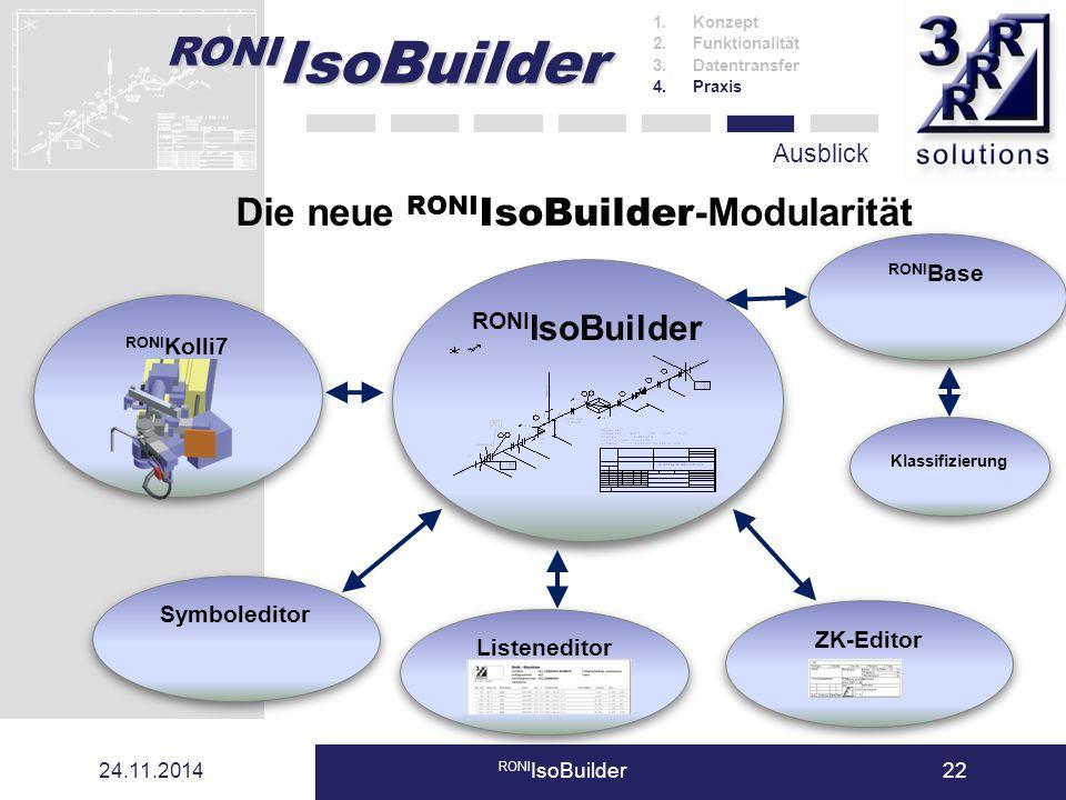 Die neue RONIIsoBuilder-Modularität