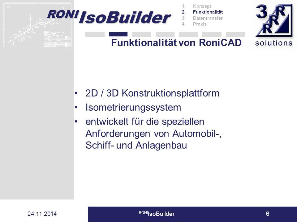 Funktionalität von RoniCAD