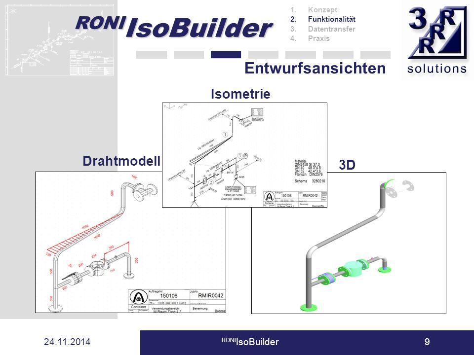 Entwurfsansichten Isometrie Drahtmodell 3D 07.04.2017 RONIIsoBuilder