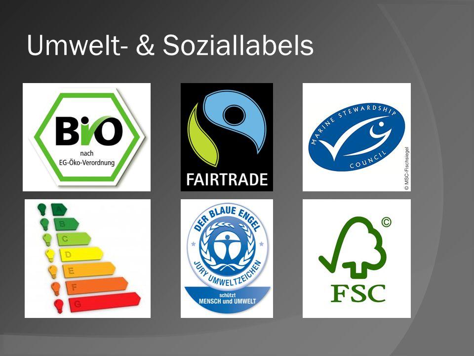 Umwelt- & Soziallabels