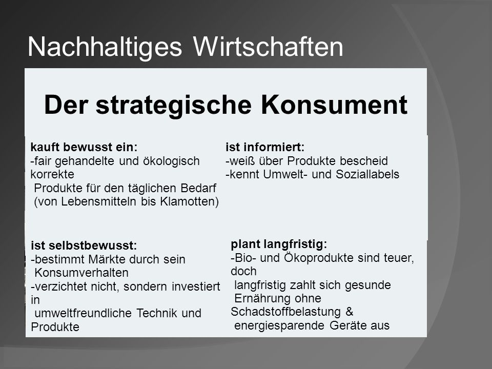 Der strategische Konsument