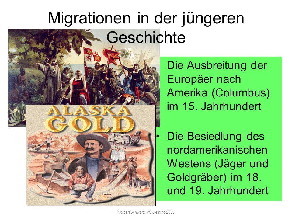 Migrationen in der jüngeren Geschichte