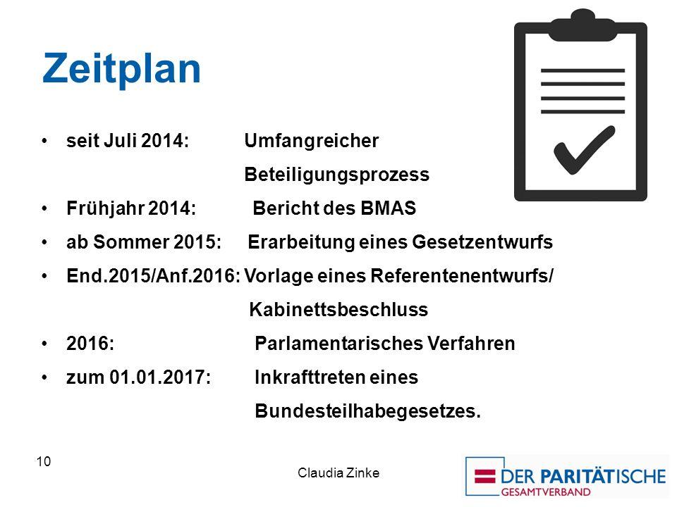 Zeitplan seit Juli 2014: Umfangreicher Beteiligungsprozess