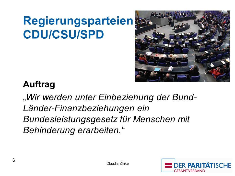 Regierungsparteien CDU/CSU/SPD