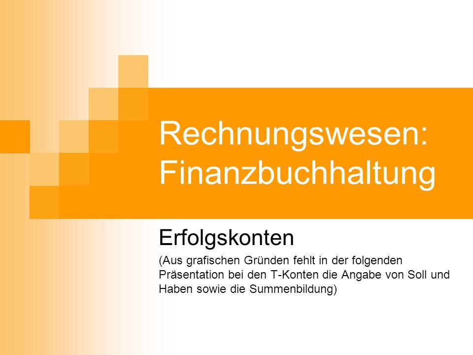 Rechnungswesen: Finanzbuchhaltung