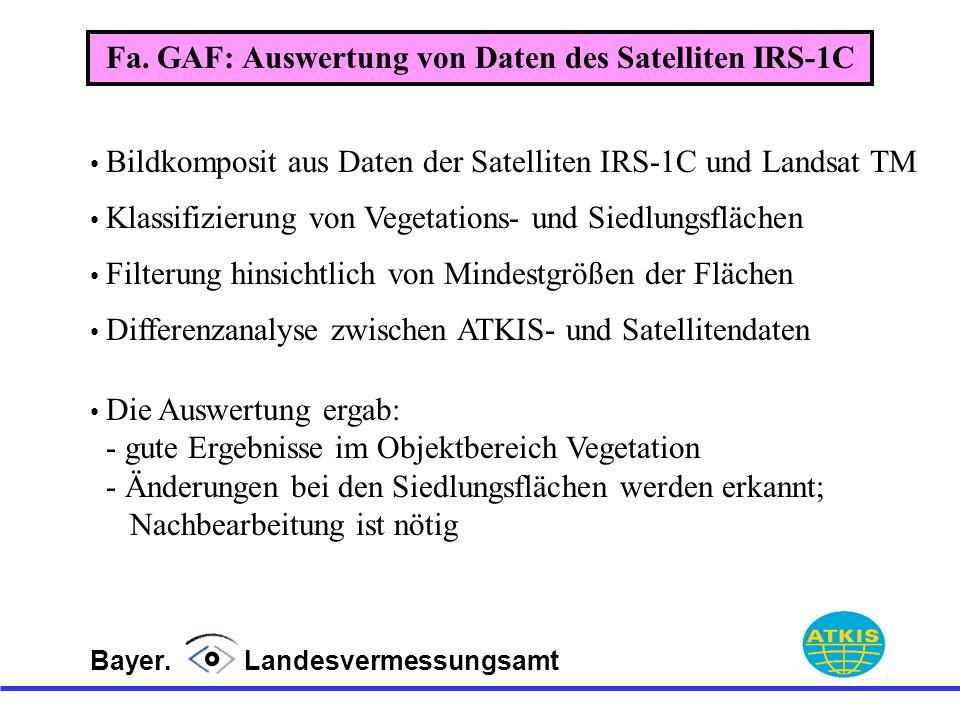 Fa. GAF: Auswertung von Daten des Satelliten IRS-1C